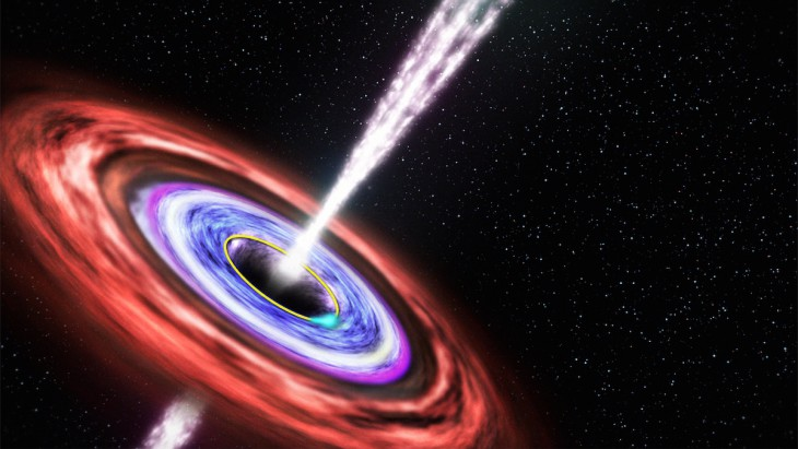 Supermassive black hole seen eating star for the first